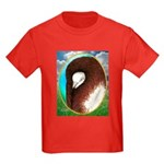 Opal Jacobin Pigeon Kids Dark T-Shirt