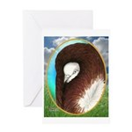 Opal Jacobin Pigeon Greeting Card