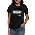 Edgar Allan Poe 5 Women's Dark T-Shirt