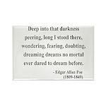 Edgar Allan Poe 5 Rectangle Magnet