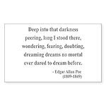 Edgar Allan Poe 5 Rectangle Sticker
