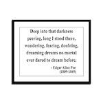 Edgar Allan Poe 5 Framed Panel Print