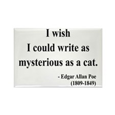 Edgar Allan Poe 6 Rectangle Magnet (10 pack)