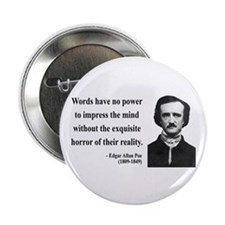 "Edgar Allan Poe 8 2.25"" Button (10 pack)"