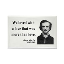 Edgar Allan Poe 9 Rectangle Magnet
