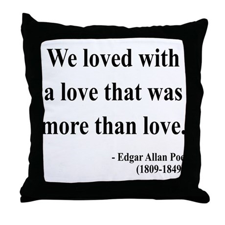 Edgar Allan Poe 9 Throw Pillow