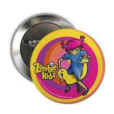 """Springy Duck Zombie Kid 2.25"""" Button"""