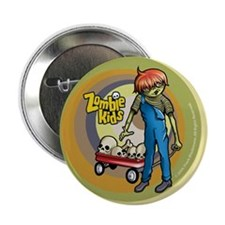 """Red Wagon Zombie Kid 2.25"""" Button"""