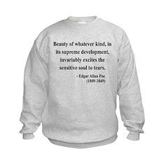 Edgar Allan Poe 11 Kids Sweatshirt