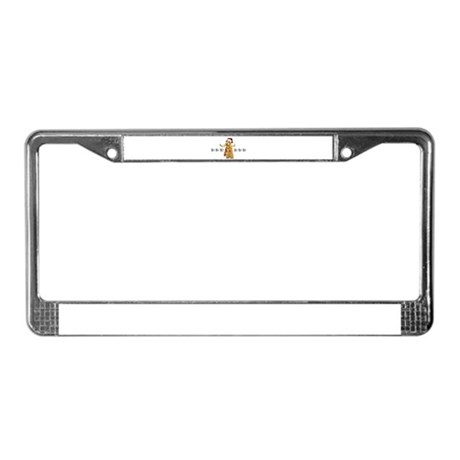 Santa Airedale Terrier License Plate Frame