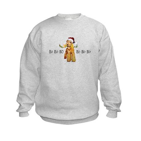 Santa Airedale Terrier Kids Sweatshirt