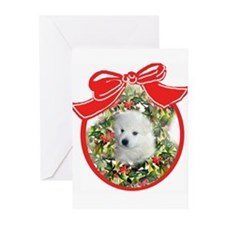 American Eskimo Christmas Greeting Cards (Package