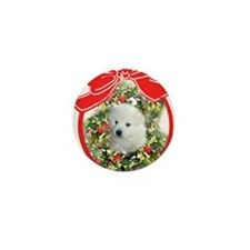 American Eskimo Christmas Mini Button