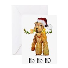 Santa Airedale Terrier Greeting Card