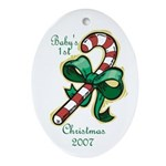 Baby's 1st Christmas 2007 Oval Ornament