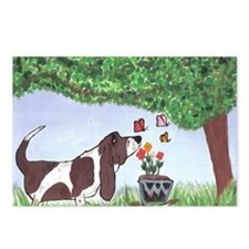 Cute Basset hounds Postcards (Package of 8)