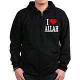 I Love Allah Zip Hoody