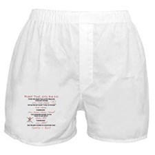 Girls Are Evil Anti Love Boxer Shorts