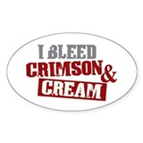 Bleed Crimson Cream Oval Decal