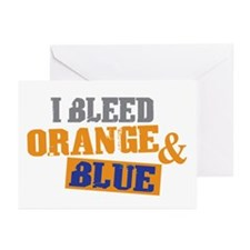 Bleed Orange Blue Greeting Cards (Pk of 20)