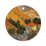 Van Gogh Valley Ploughman Ornament (Round)