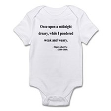 Edgar Allan Poe 14 Infant Bodysuit
