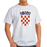 Croatia Coat Of Arms Ash Grey T-Shirt
