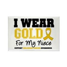 I Wear Gold Niece Rectangle Magnet