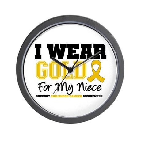 I Wear Gold Niece Wall Clock