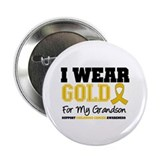 "I Wear Gold Grandson 2.25"" Button"