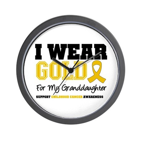 IWearGold Granddaughter Wall Clock