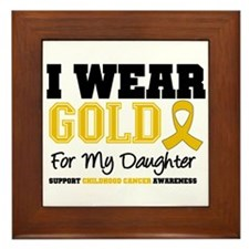 I Wear Gold Daughter Framed Tile