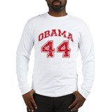 Obama 44 Jersey Style Long Sleeve T-Shirt