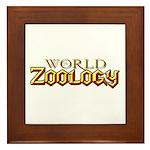 World of Zoology Framed Tile