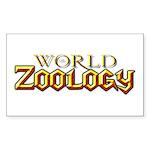 World of Zoology Rectangle Sticker
