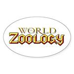 World of Zoology Oval Sticker