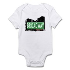 BROADWAY, MANHATTAN, NYC Infant Bodysuit