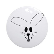 Bunny Drawing Ornament (Round)