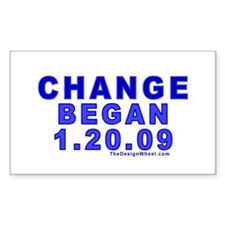 Change Began 1.20.09 Rectangle Decal