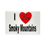 I Love Smoky Mountains Rectangle Magnet (10 pack)