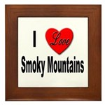 I Love Smoky Mountains Framed Tile