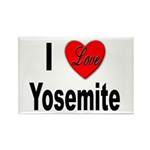 I Love Yosemite Rectangle Magnet (10 pack)
