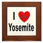 I Love Yosemite Framed Tile