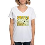 Troupe de Eglantine Women's V-Neck T-Shirt