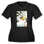 Confetti Women's Plus Size V-Neck Dark T-Shirt