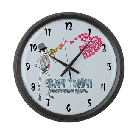 Enjoy Today... Large Wall Clock