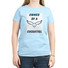 Owned by a Cockatiel Women's Pink T-Shirt