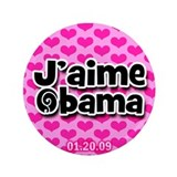 J'aime Obama button