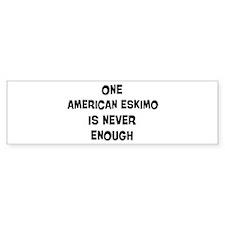 One American Eskimo Bumper Sticker (10 pk)