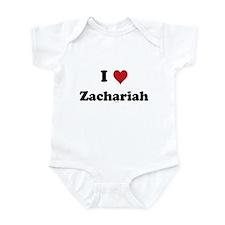 I love Zachariah Infant Bodysuit